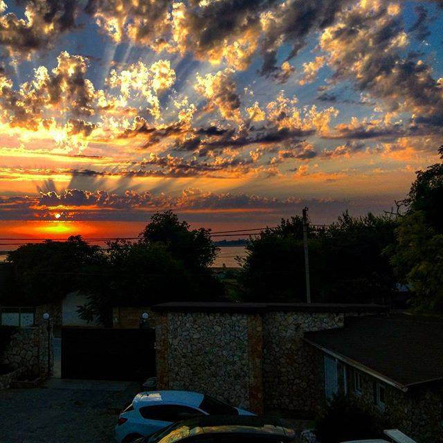 Закат в Оленевке
