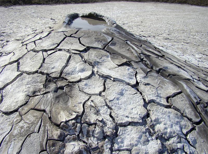 Минеральная глина вместо лавы