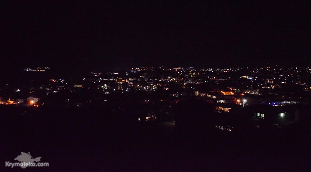 Судак ночью с восточной окраины