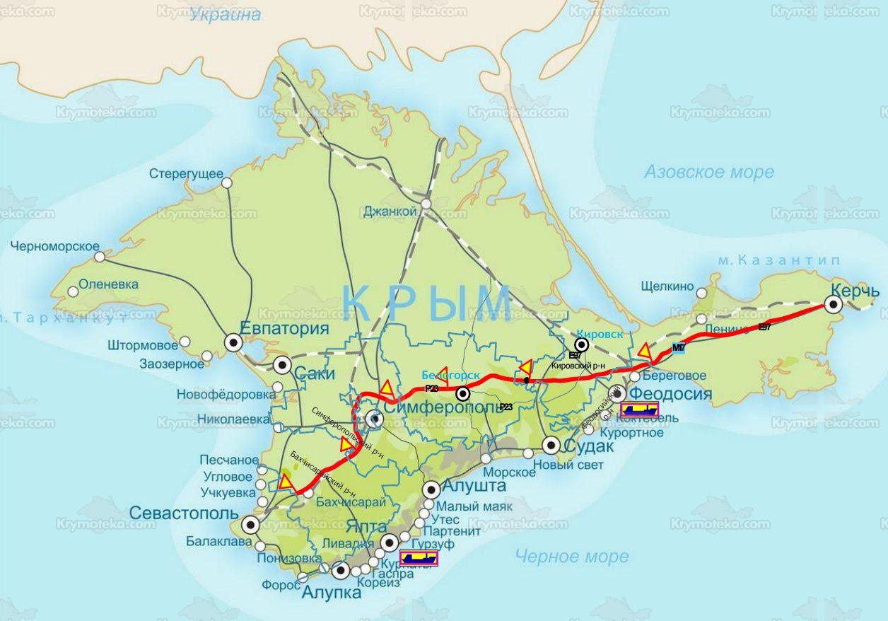 Схема крымской трассы «Таврида»